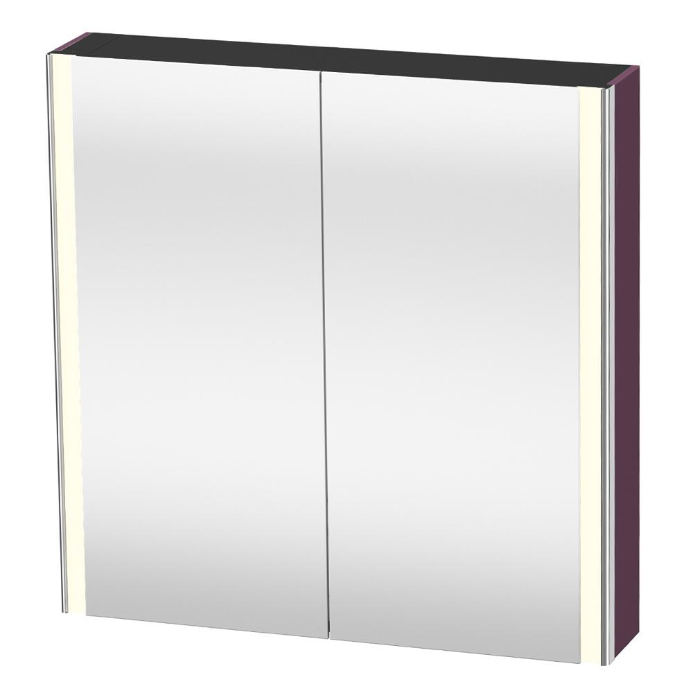 Duravit: XSquare: Mirror Cabinet: 80cm Aubergine Satin Matt #XS711209494 1