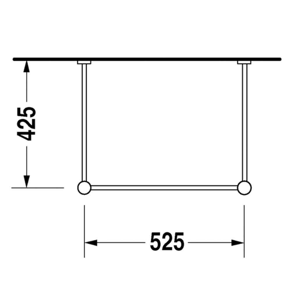 Duravit: Vero: Metal Console, C.P. #00306310