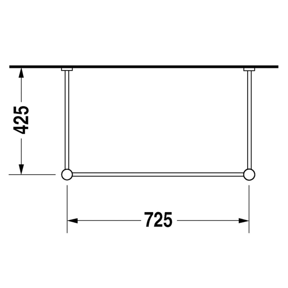 Duravit: Vero: Metal Console For 045480, C.P. #00306610