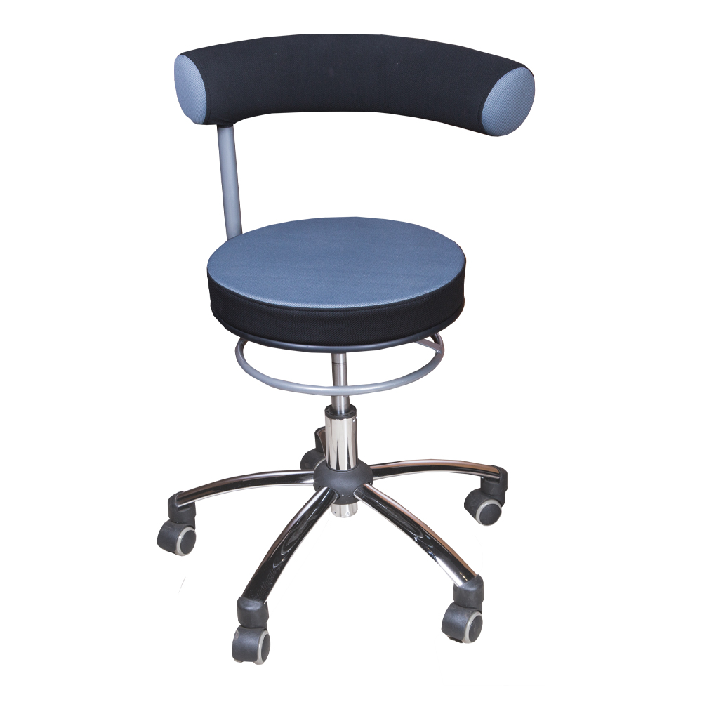 Swivel Barstool With Back Rest, PU Ref