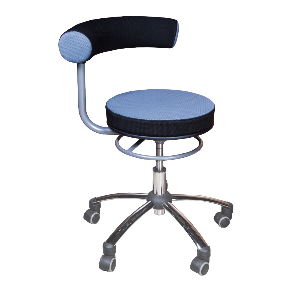 Swivel Barstool With Back Rest, PU Ref.HY1037