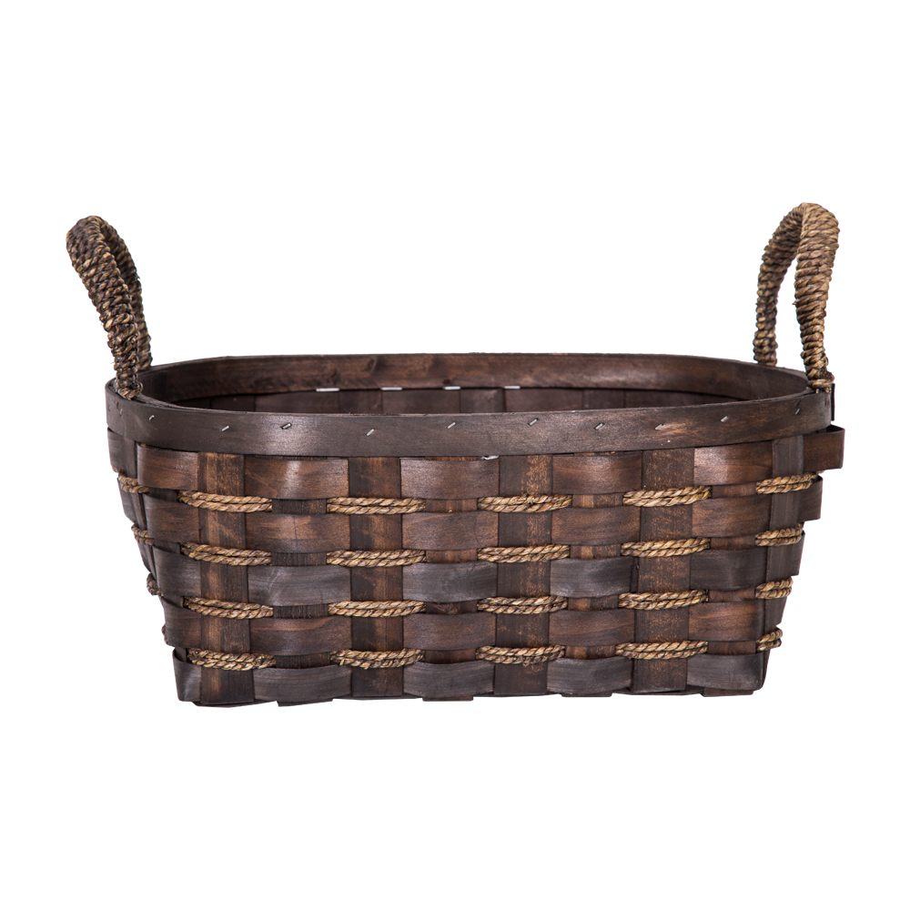 DOMUS:Oval Willow Basket: 36x30x15cm: Large #CB160097