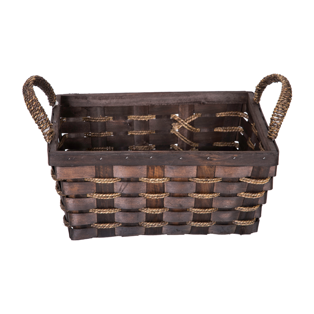 DOMUS:Rectangle Willow Basket: 33x26x15cm: Large #CB160098