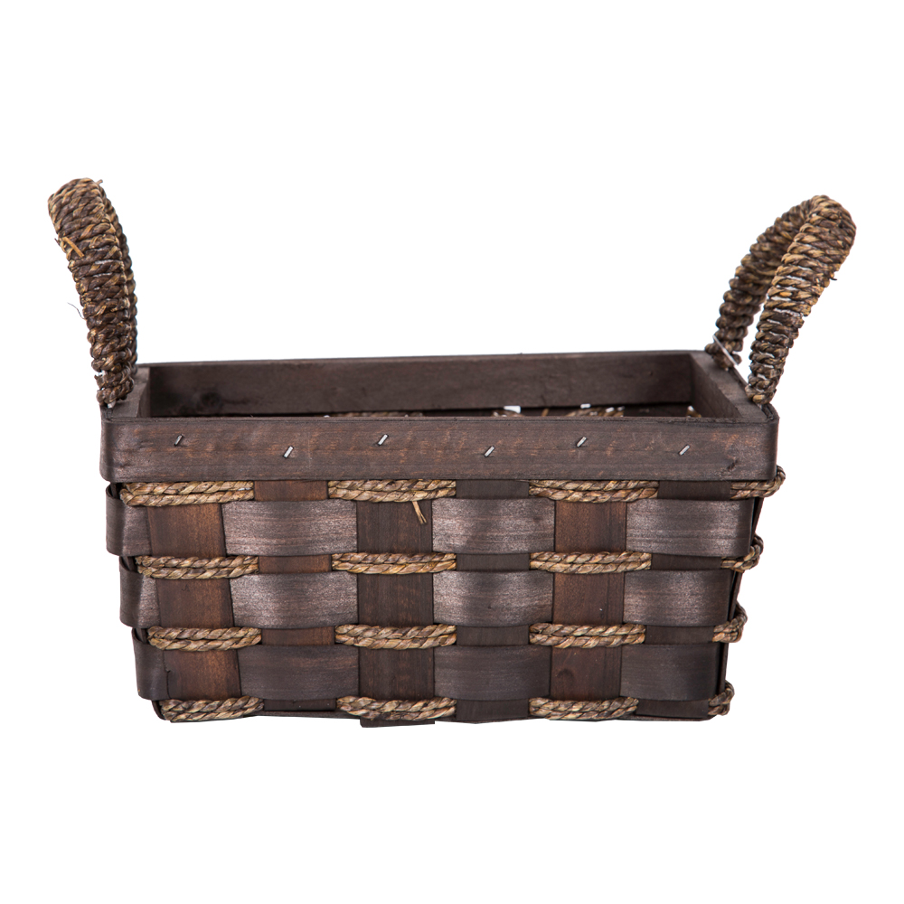 DOMUS:Rectangle Willow Basket: 24x16x11cm: Small #CB160098