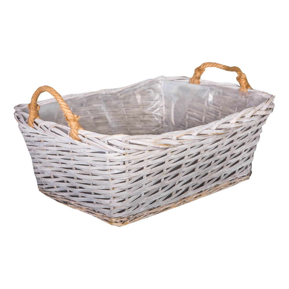 DOMUS: Rectangle Willow Basket :60x49x24cm: Large #CB170034