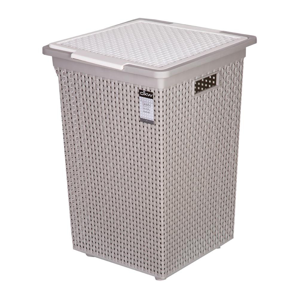 DKW: Sann Square Laundry Basket With Lid: Ref. HH-1110