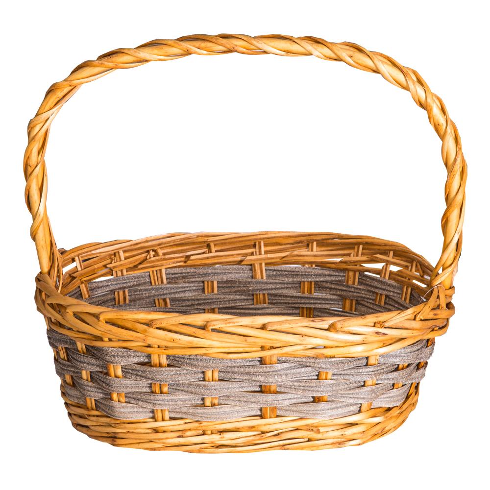 DOMUS:Oval Willow Basket: 39x28cm: Medium #CB180333 1