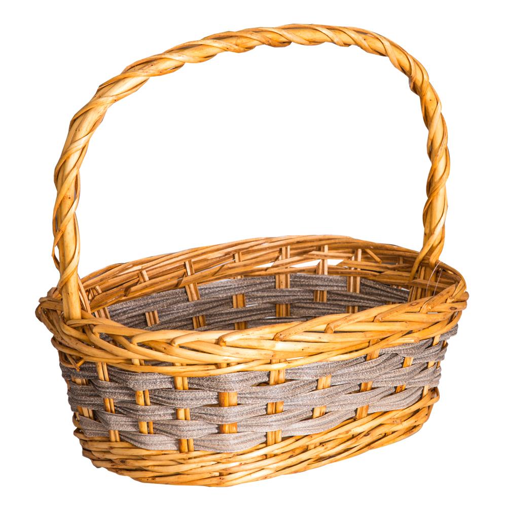 DOMUS:Oval Willow Basket: 39x28cm: Medium #CB180333