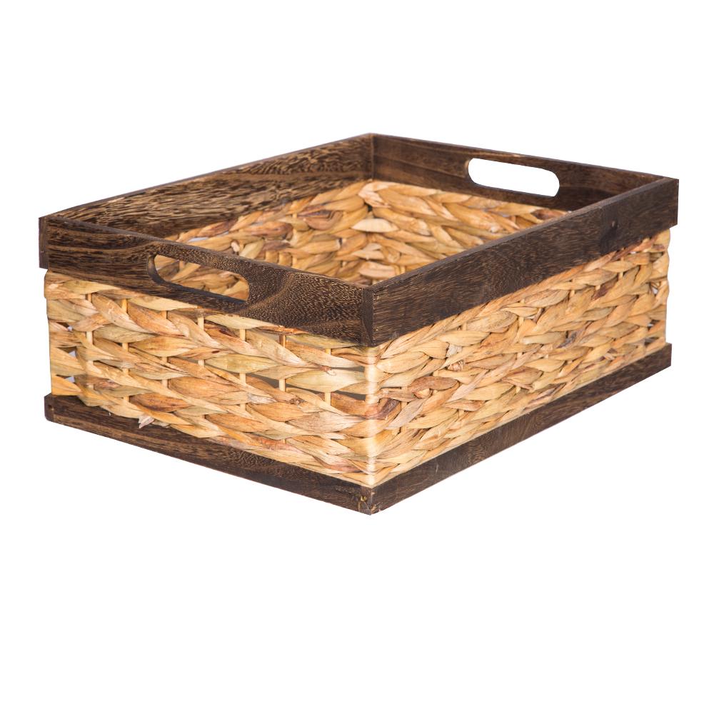 DOMUS:Rectangle Willow Basket: 44x33.5x17cm: Large #CB180106