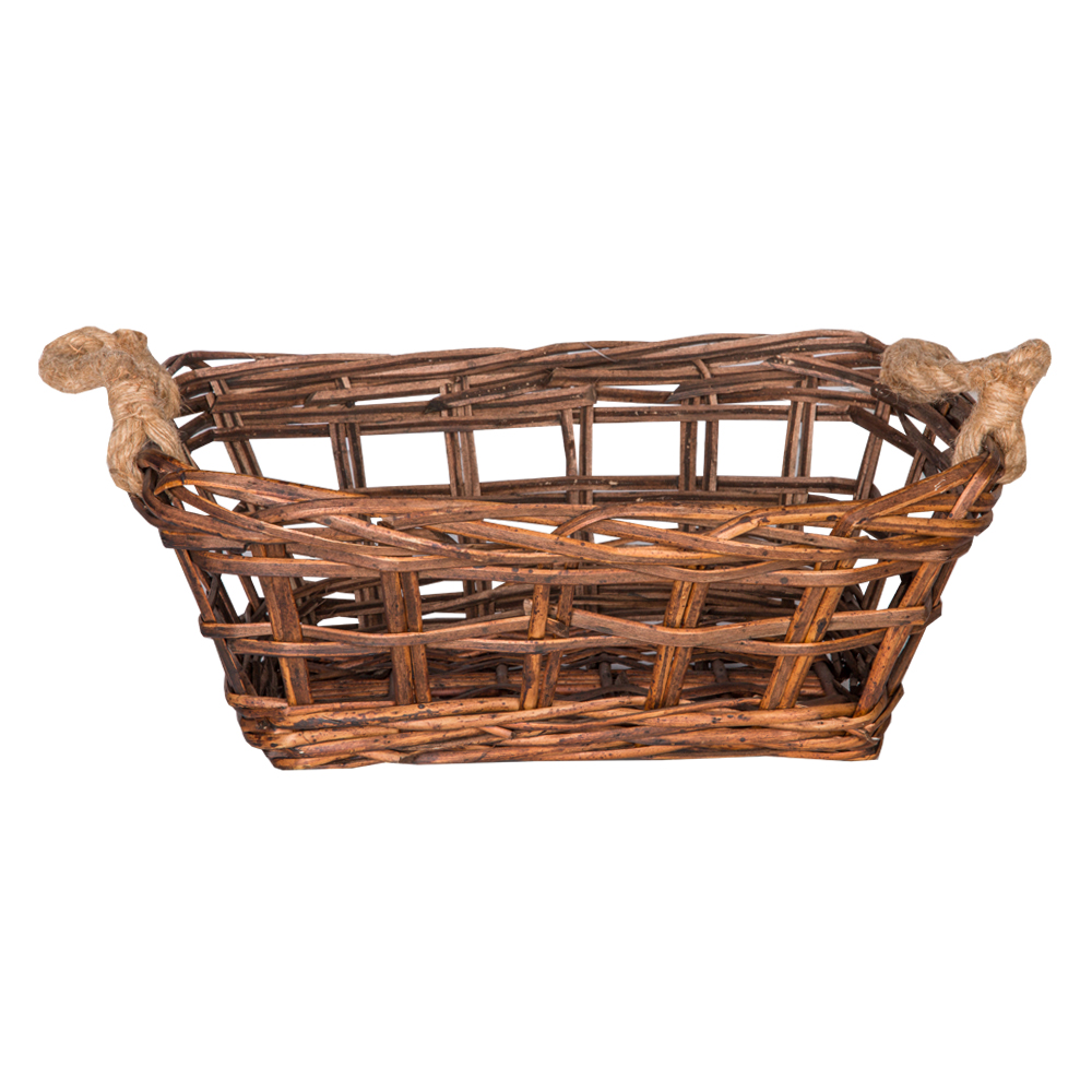 DOMUS:Rectangle Willow Basket: 37x28x14cm: Small #CB180219 1