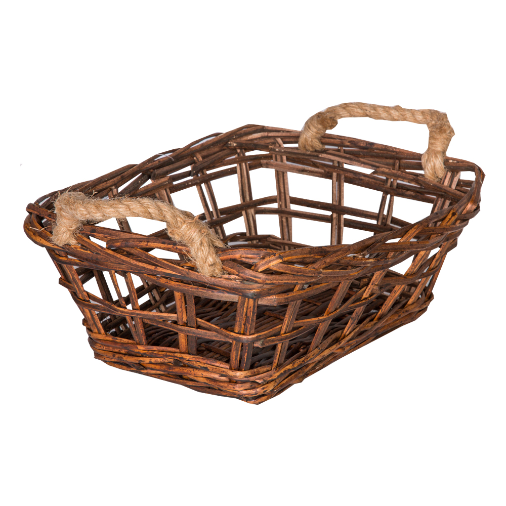 DOMUS:Rectangle Willow Basket: 37x28x14cm: Small #CB180219