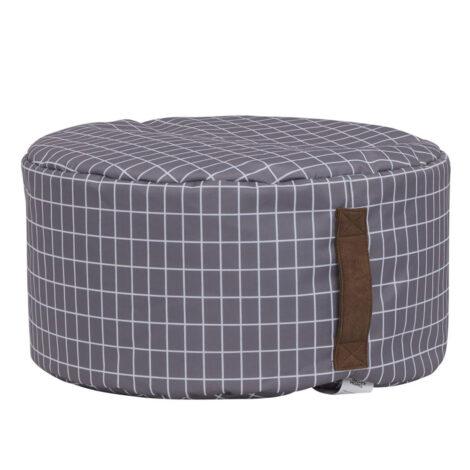 Rita Bean Bag, (50x50x25)cm, Grey/White 1