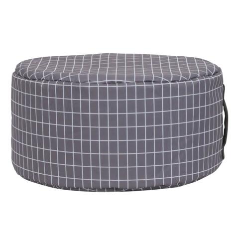Rita Bean Bag, (50x50x25)cm, Grey/White