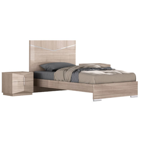 Perfect Line: King Bed, (183×203)cm + 2 Night Stands, BeigeAngley 1