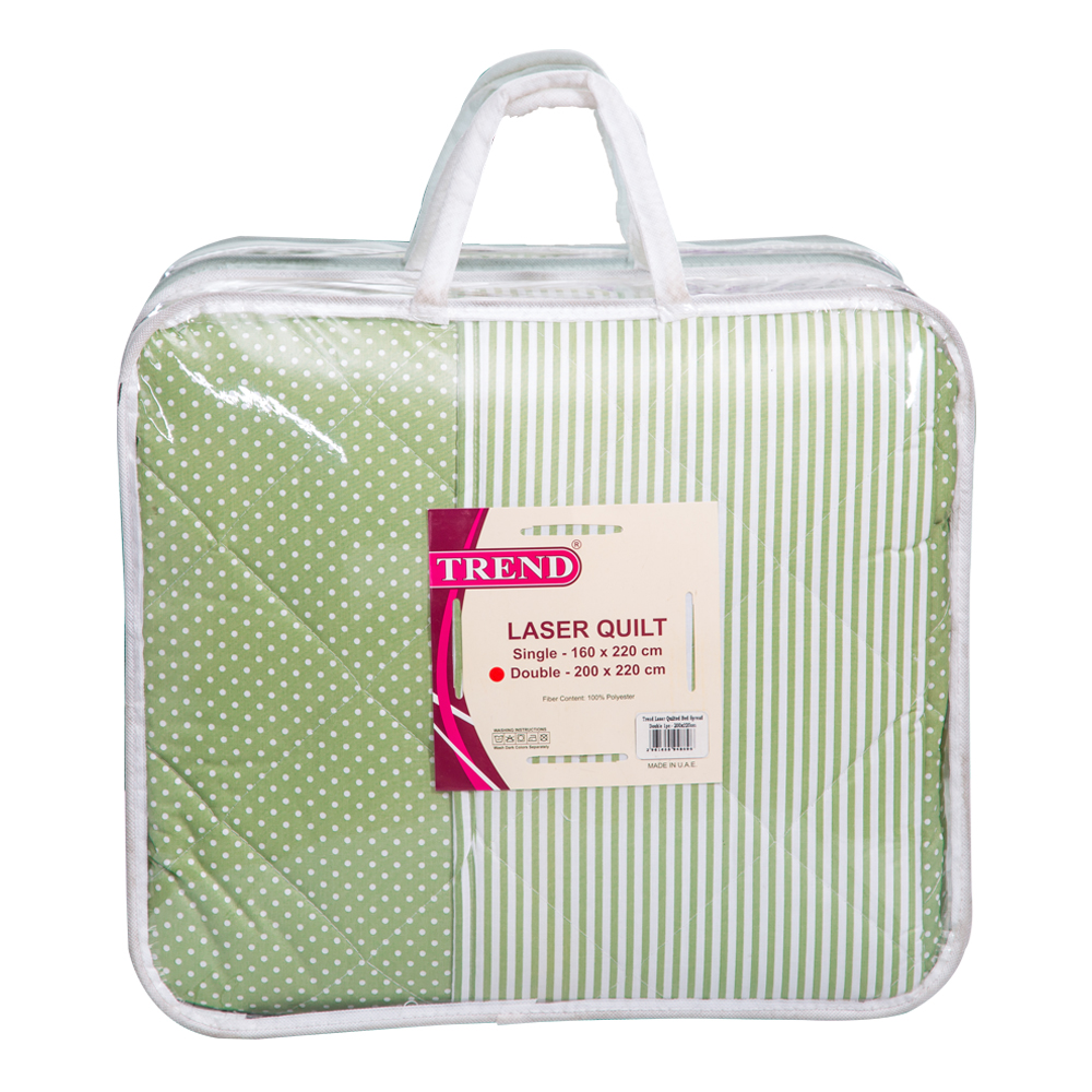 Trend: Quilted Bed Spread, Dot/Stripes; 1pc PC-180T : 200x220cm 1