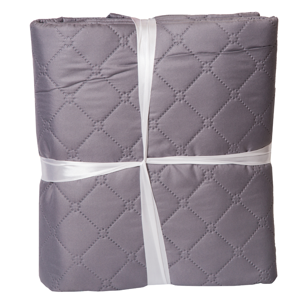 Home Box : Quilted Microfiber Bed Spread Set: 2 Pcs: 160x220cm