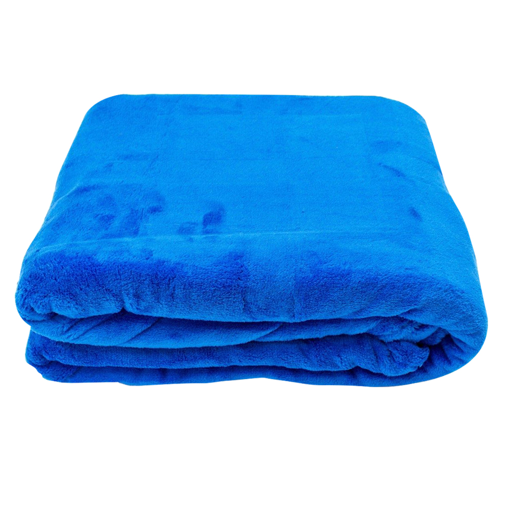KINGS: Luxury S/Soft Plain Fleece Throw Blanket 326; 152x203cm 1