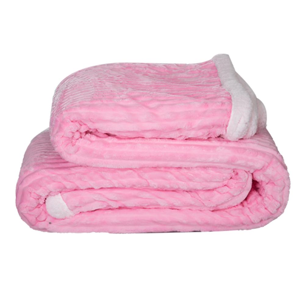 Rest: Sherpa Flannel Double Blanket; 1Pc 220x240cm