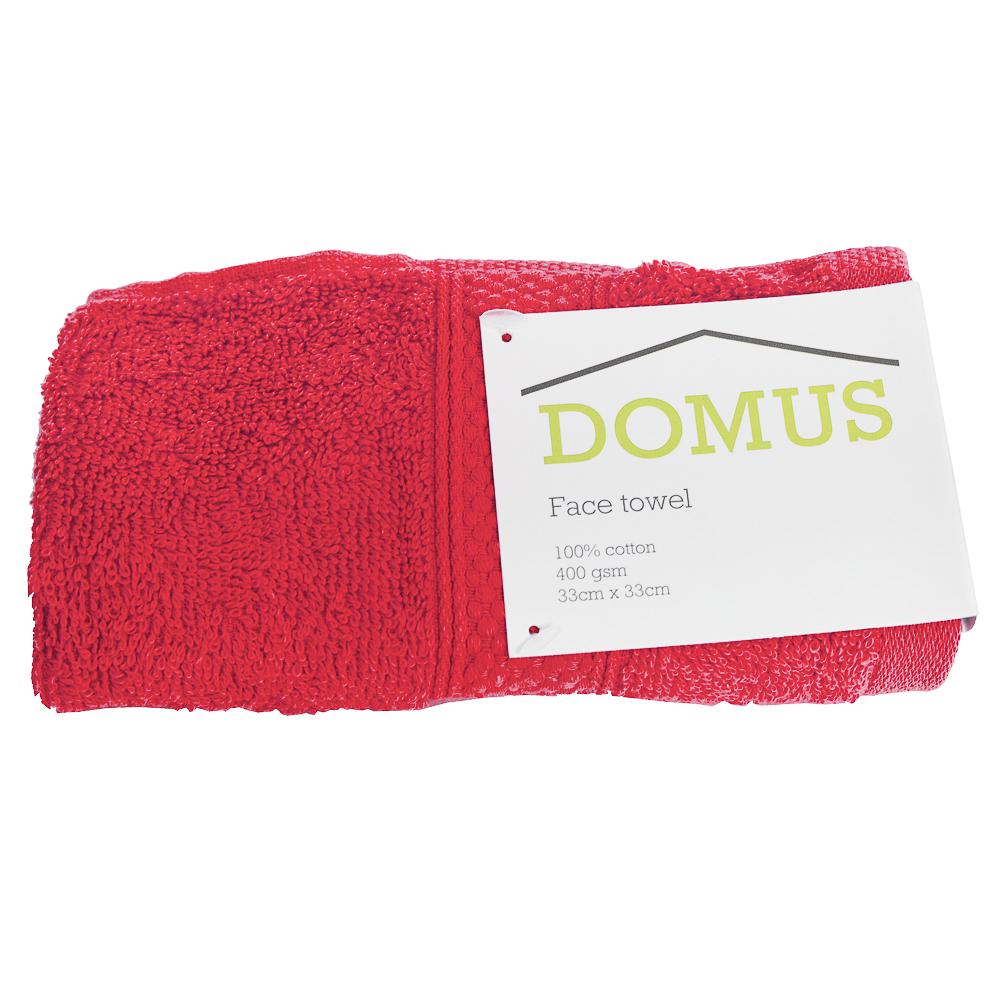 DOMUS: Face Towel: 400 GSM, 33×33 1