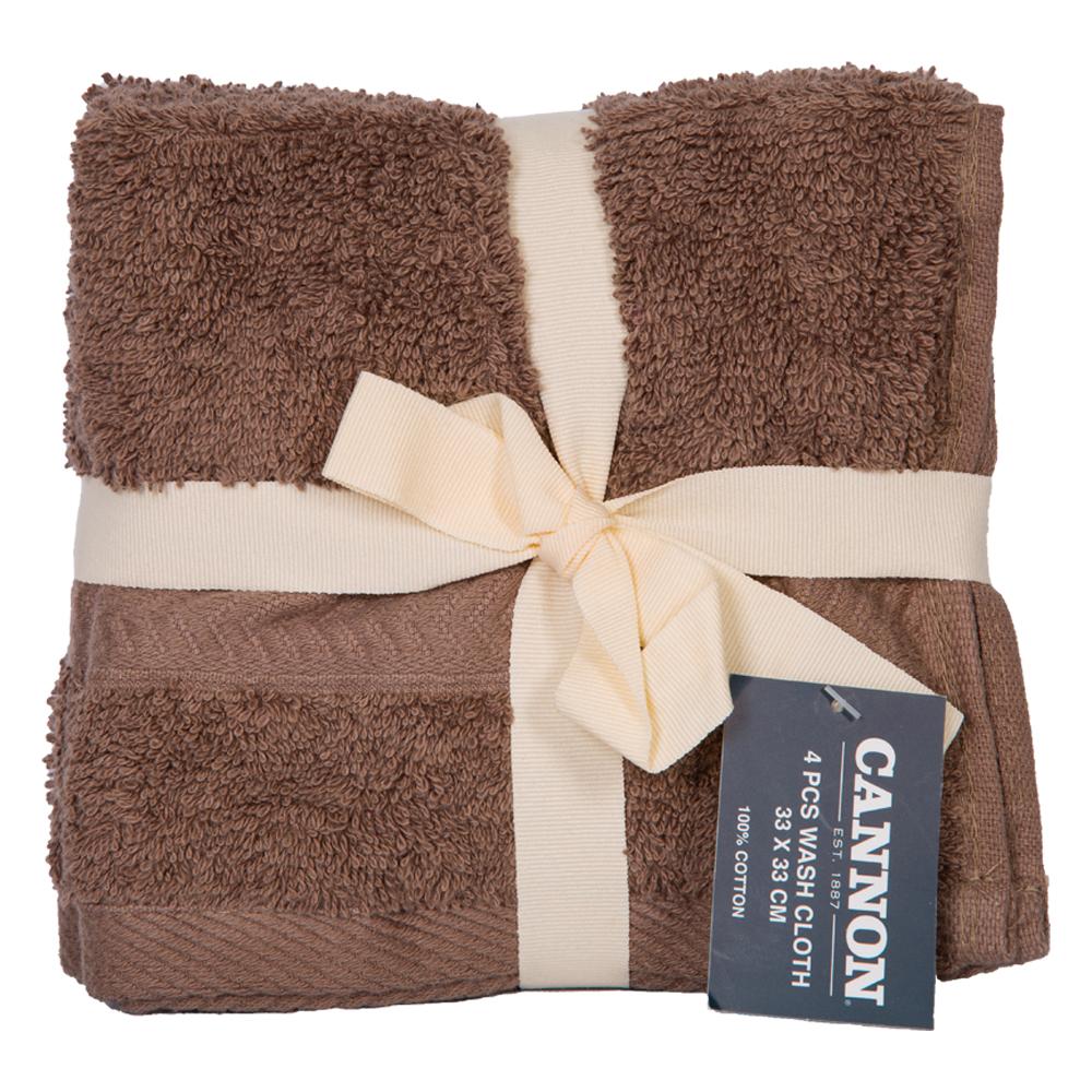 Cannon: Face Towels, Plain 4pc : 33x33cm 1