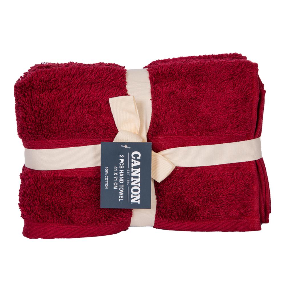 Cannon: Hand Towels, Plain 2pc : 41x71cm