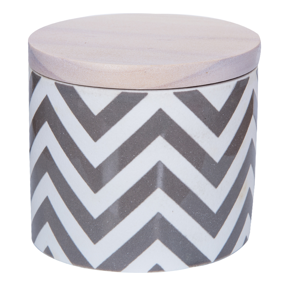 Clear Cotton Scented Candle In Ceramic Pot: 7oz #RL-UCF97WH