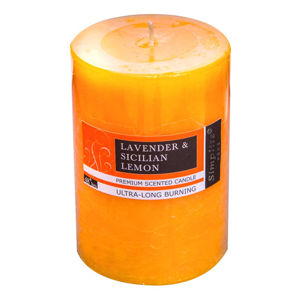Scented Pillar candle 10cm Ref