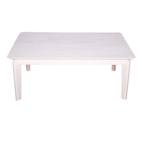 Coffee Table, Wood Top: (106x56x45)cm , White