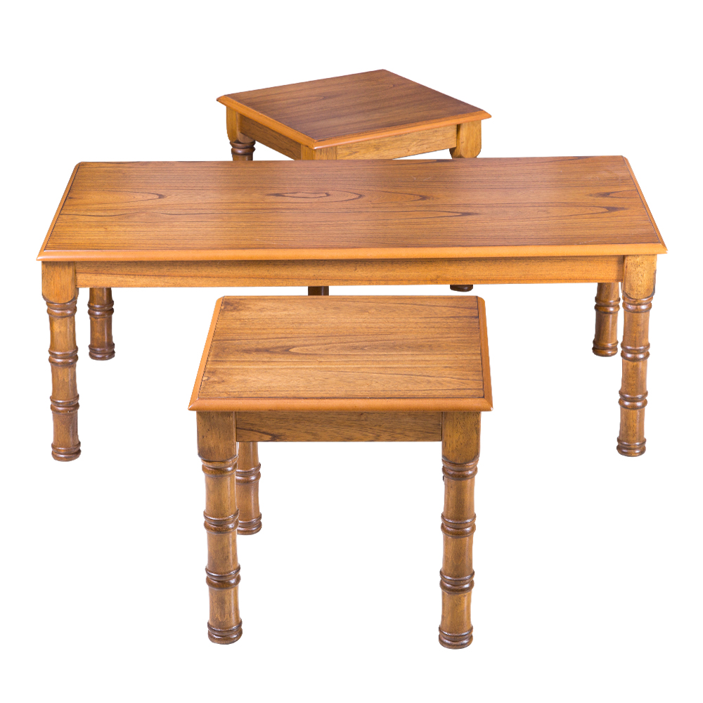 REBECCA: Wooden Coffee Table + 2 End Tables 1