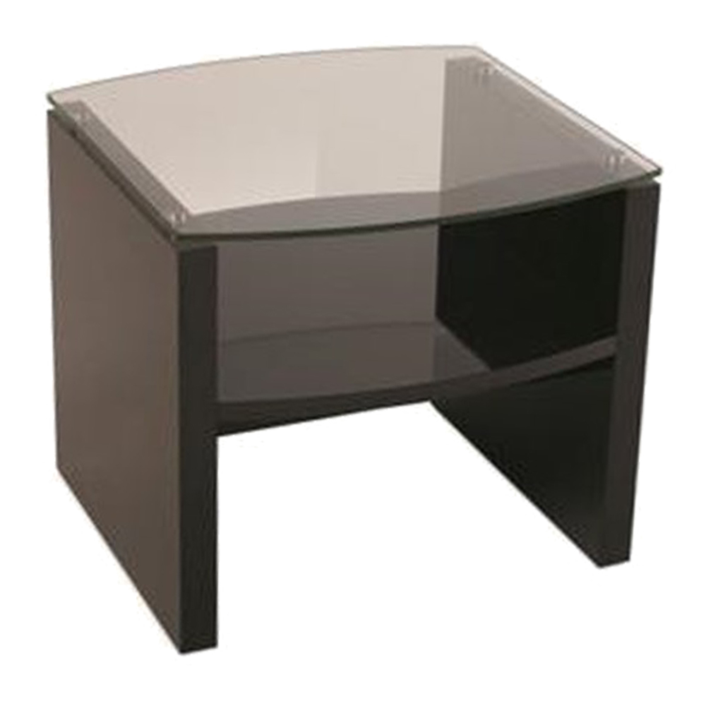 KINWAI: Zuma End Table (Glass Top): 63.6×63