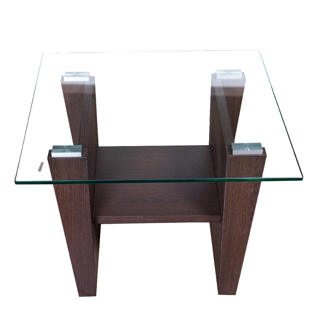 KINWAI: Scarlett End Table (Glass Top): 60x60x50cm #3962-841 1