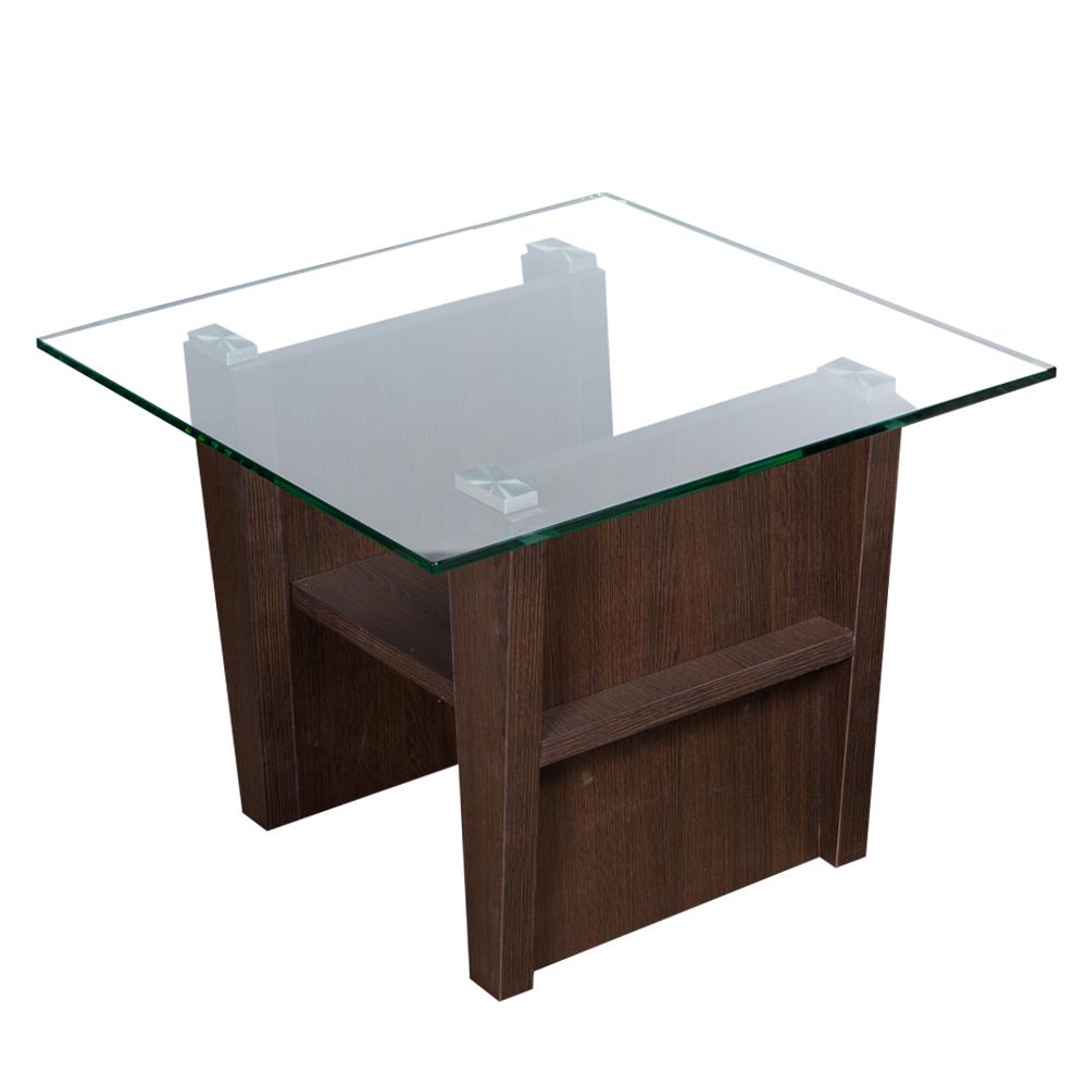 KINWAI: Scarlett End Table (Glass Top): 60x60x50cm #3962-841