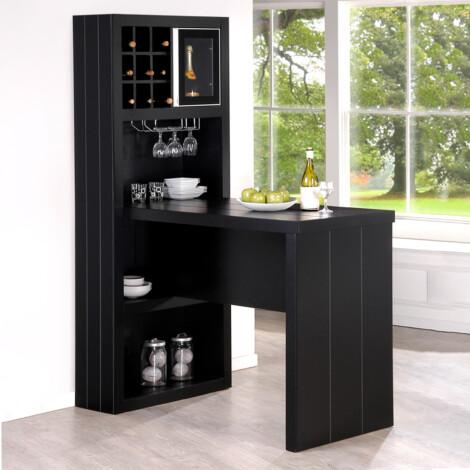 Bar Counter; (80.5x143x198)cm, Black