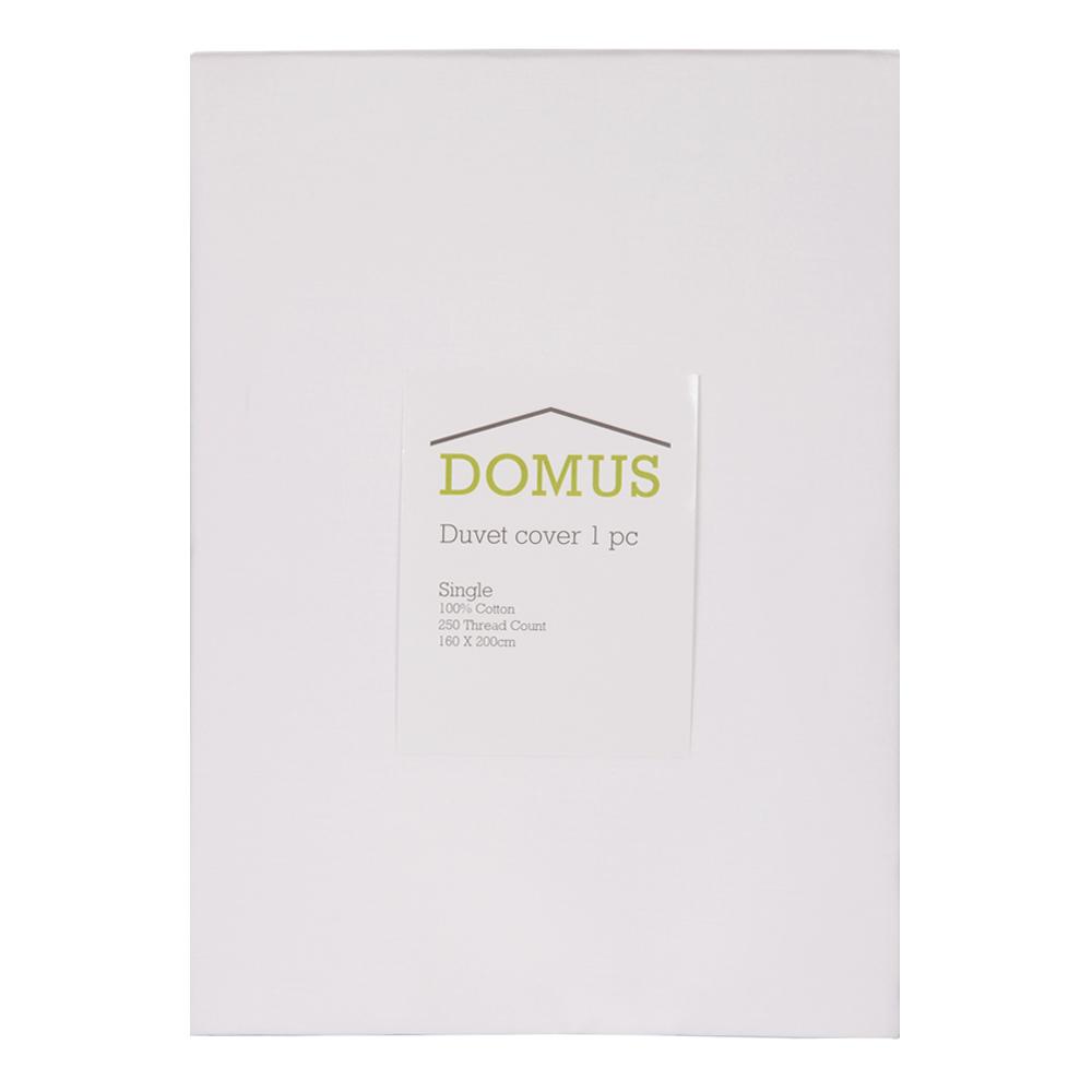 DOMUS: Duvet Cover: Single, 250Tc 100% Cotton: 160x220cm 1