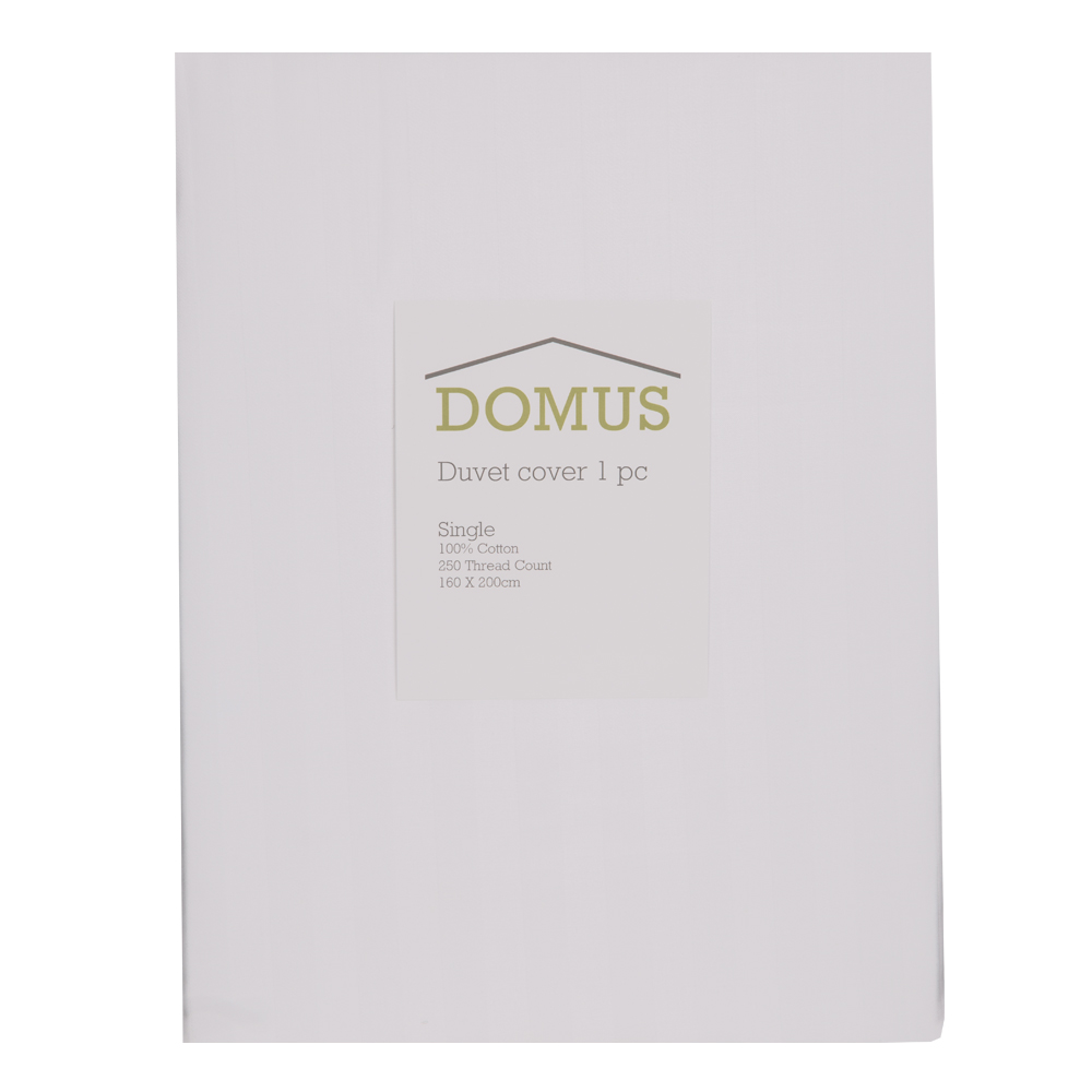 DOMUS: Duvet Cover: Single, 250 100% Cotton Stripe: 160×200 1