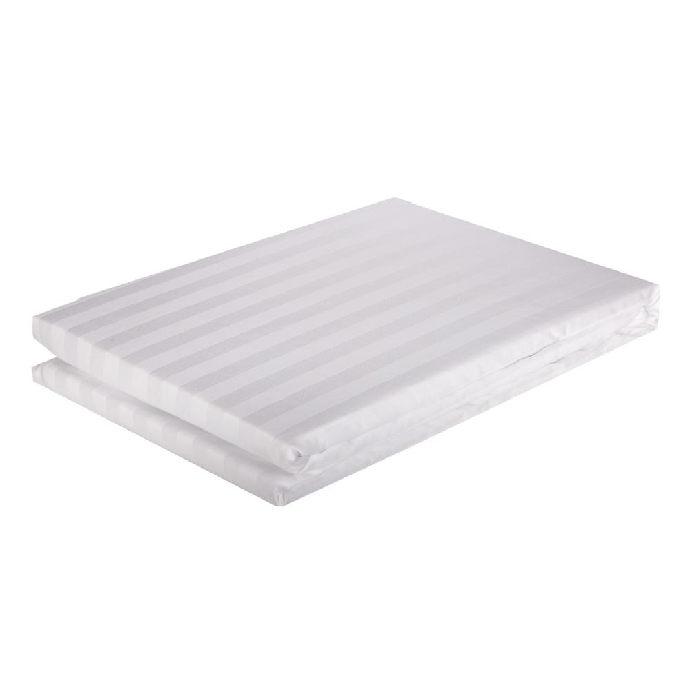 DOMUS: Duvet Cover: Single, 250 100% Cotton Stripe: 160x200