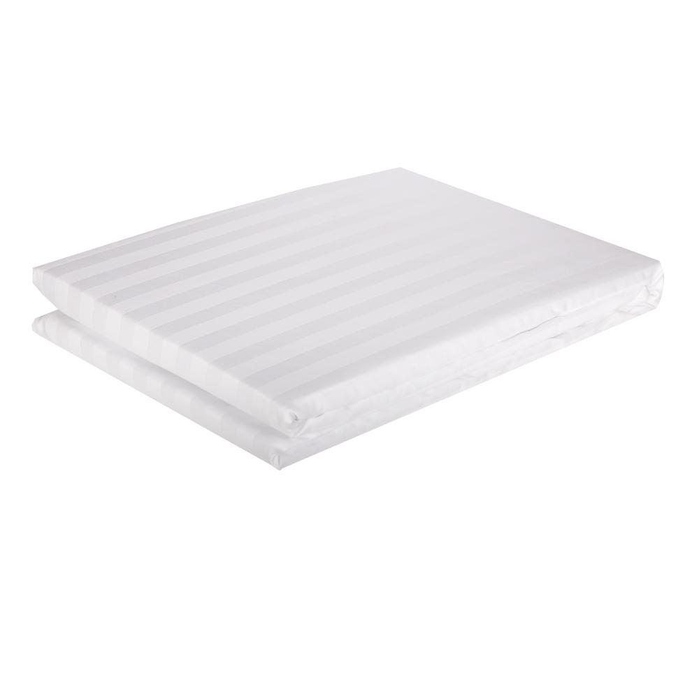 DOMUS: Duvet Cover: Queen, 250 100% Cotton Stripe: 225x220