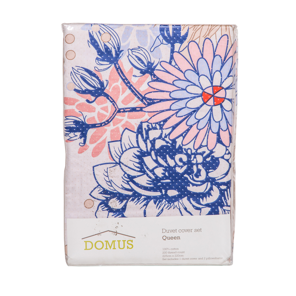 Printed Duvet Cover Set Lemon #Ym01 100% Cotton Queen 1