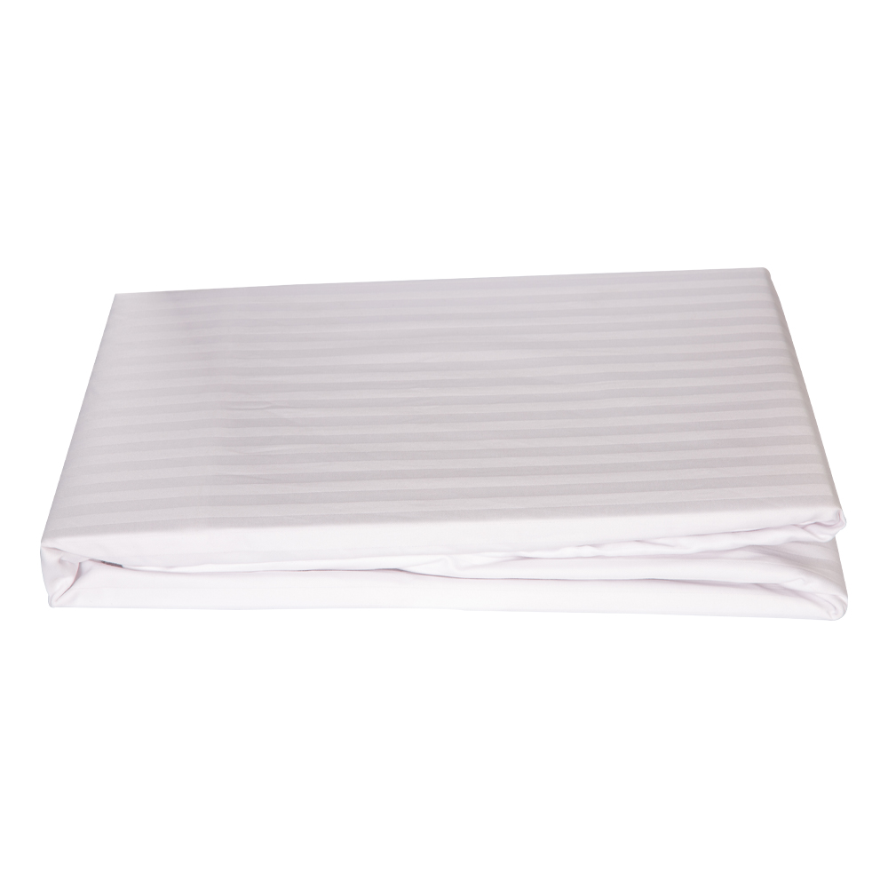 DOMUS: Duvet Cover: Single, 250Tc 100% Cotton Stripe: 160x220cm