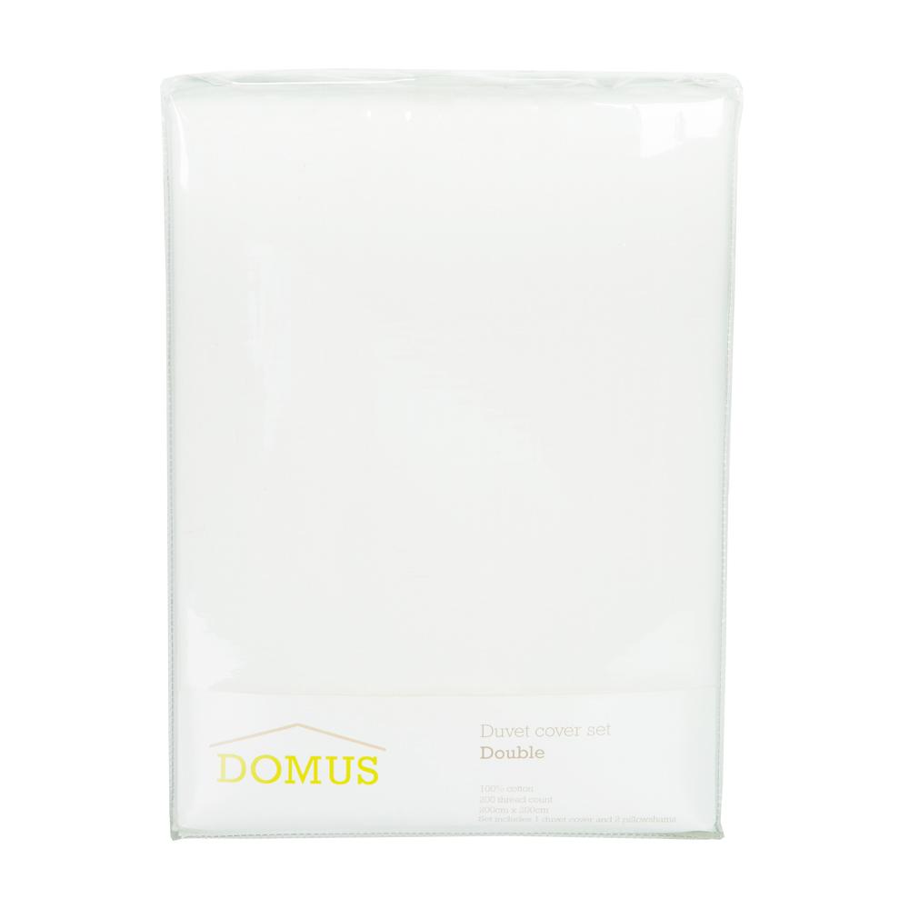 DOMUS: Twin Duvet Cover Set: 3pc Seer Sucker; Duvet Cover, 200x200cm + 2 P/Sham #G089 1