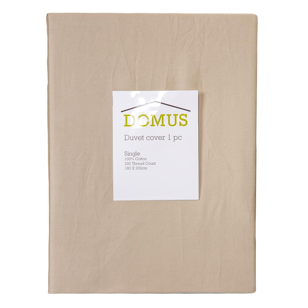 DOMUS: Duvet Cover: Single, 250 100% Cotton: 160×200 1