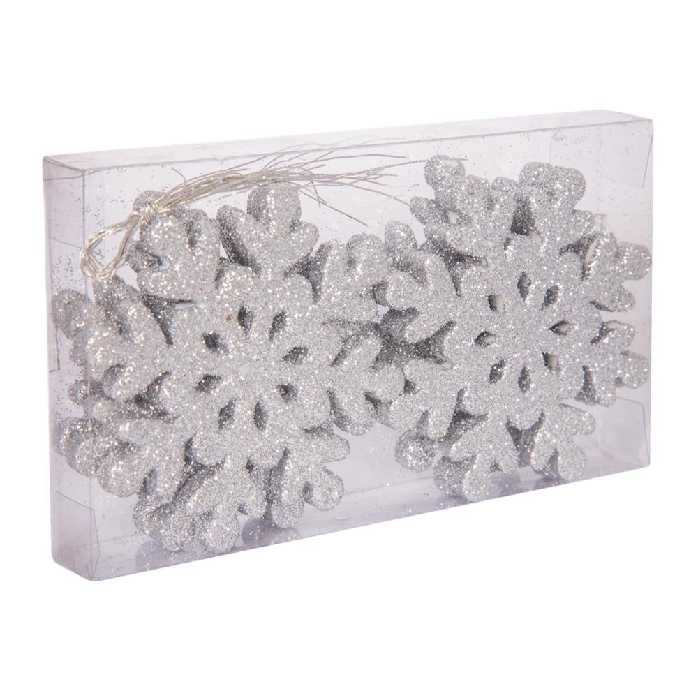 Decoration: Eva Snowflake, 7.5cm, Set 6pcs #D08-B7127S