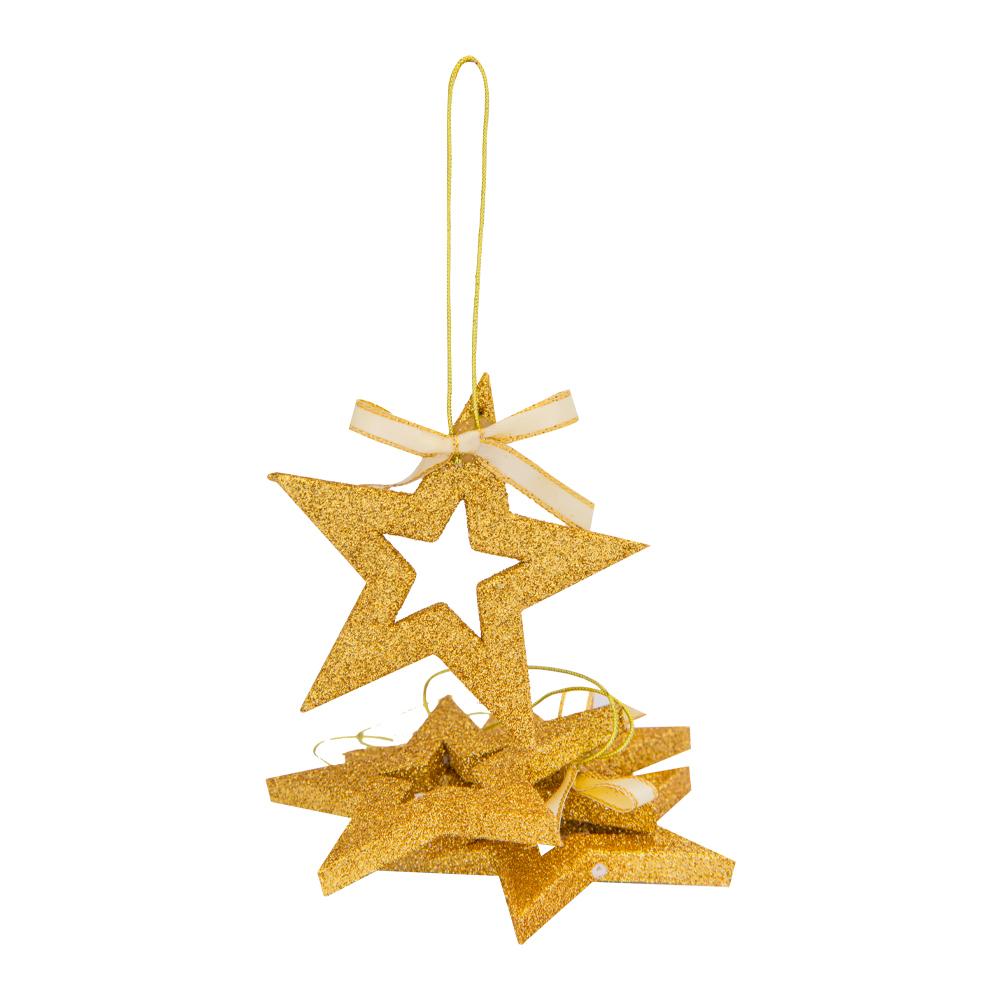 Decoration: Eva Star, 8cm, Set 6pcs #D08-B7139G 1