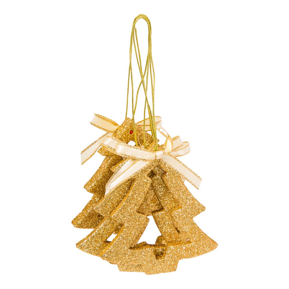 Decoration: Eva Tree, 8cm Set 6pcs #D08-B7140G 1