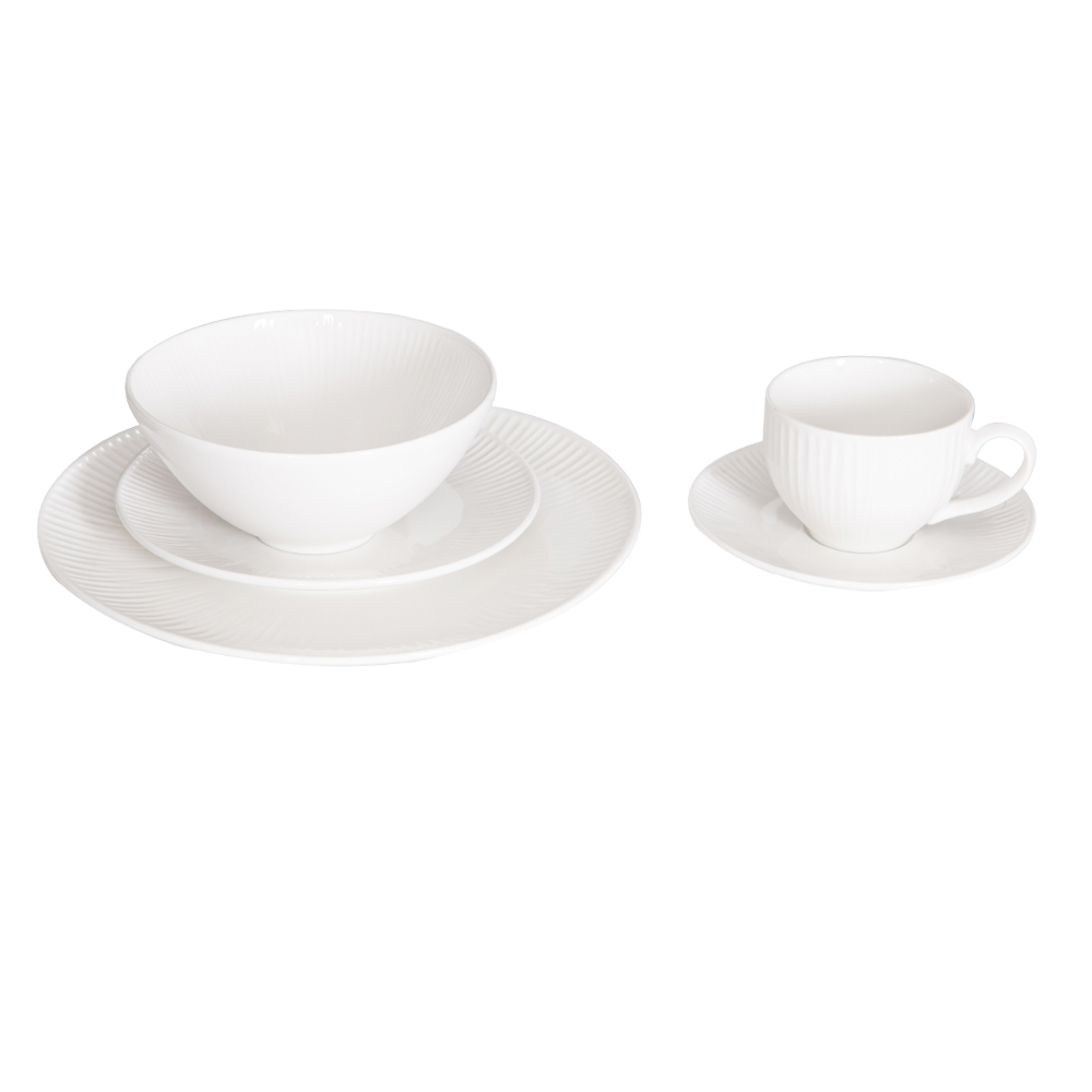 Domus: Round Crockery Set: 30pc, White, Ref