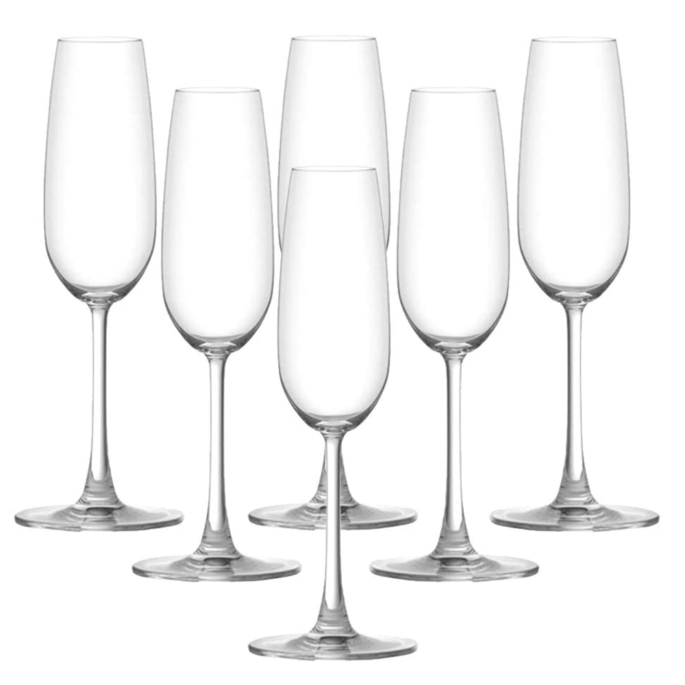 OCEAN:Madison Flute:Champagne Glass Set 6pcs 210ml #1015F07E 1