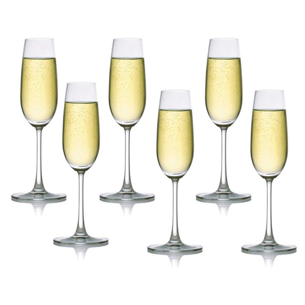 OCEAN:Madison Flute:Champagne Glass Set 6pcs 210ml #1015F07E