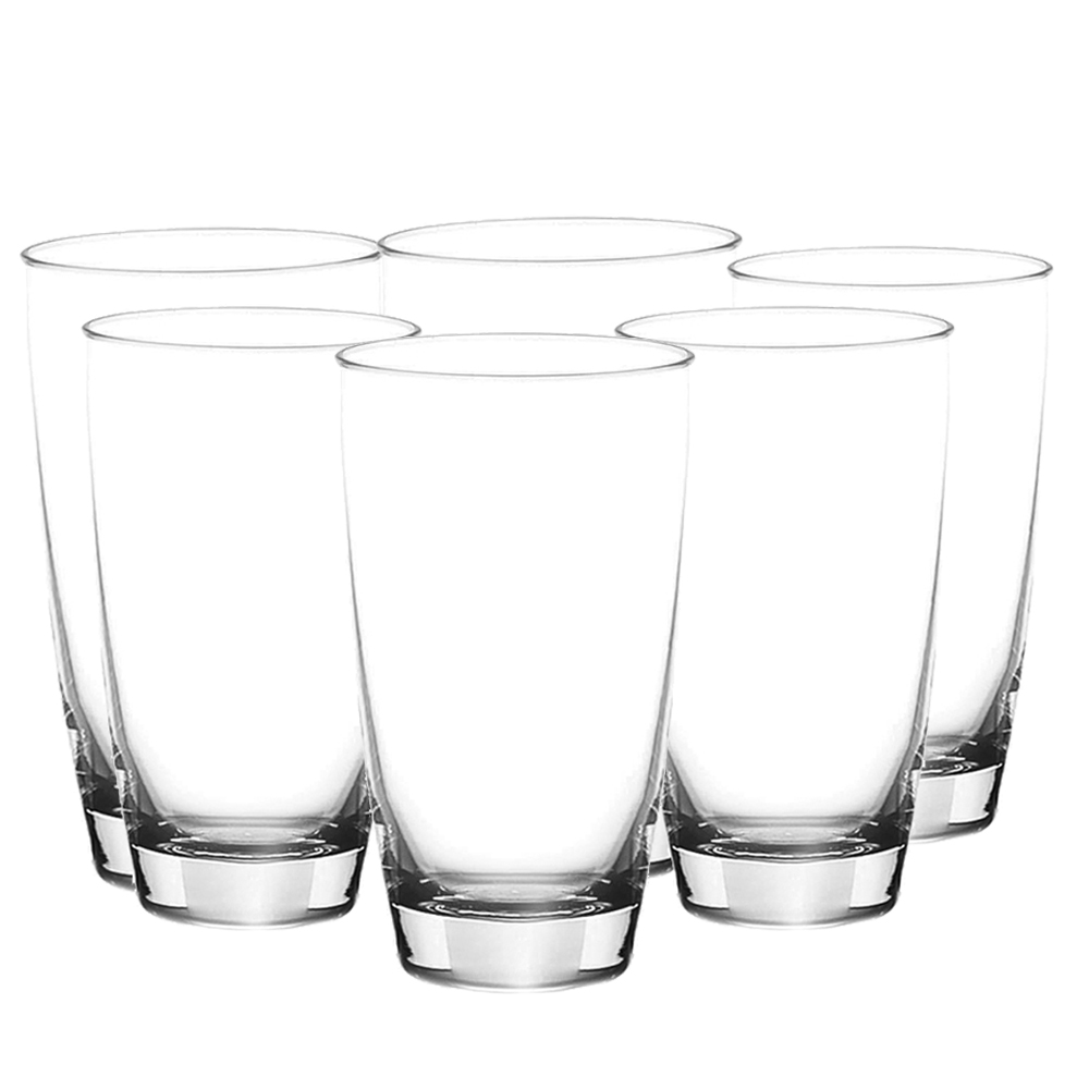OCEAN: Tiara: Long Clear Glass Set: 6pc, 465ml #1B12016L/#5B12016 1