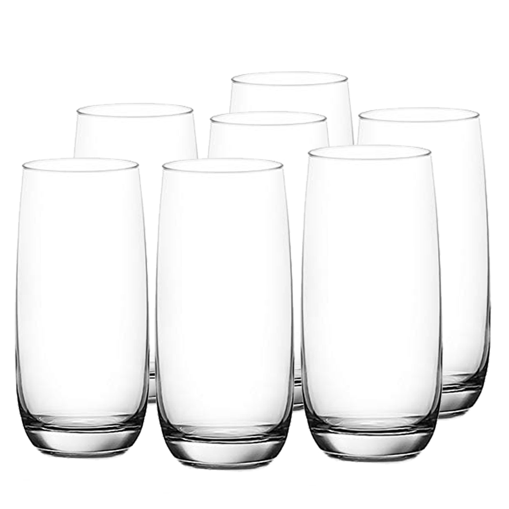 OCEAN: Ivory: Hi Ball: Clear Glass Set: 6pc, 460ml #1B13016L/5B13016 1