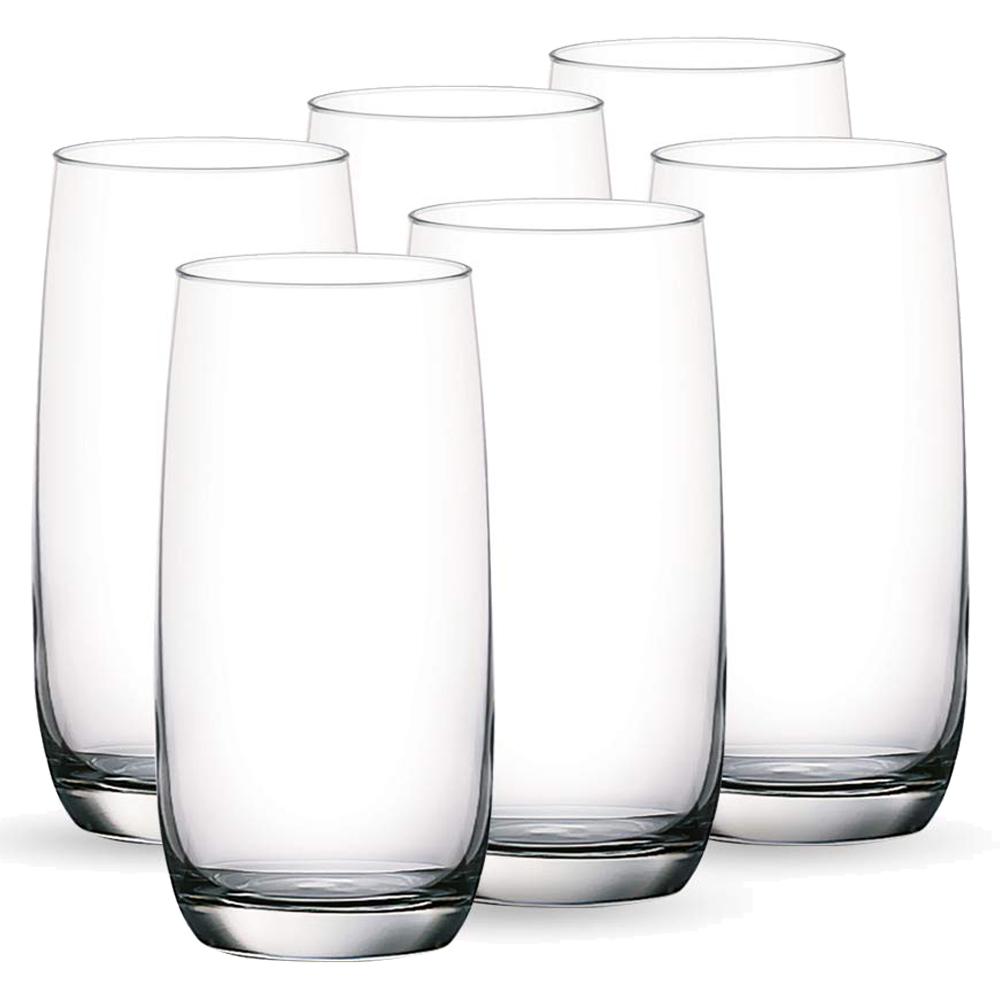 OCEAN: Ivory: Hi Ball Clear Glass Set: 6pc, 370ml #1B13013L/#5B13013 1